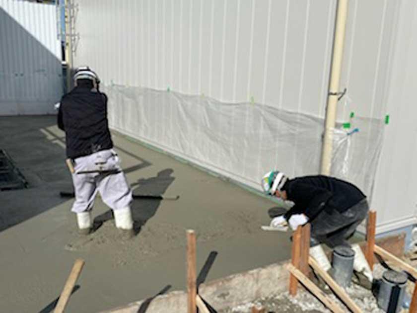 コンクリート作業