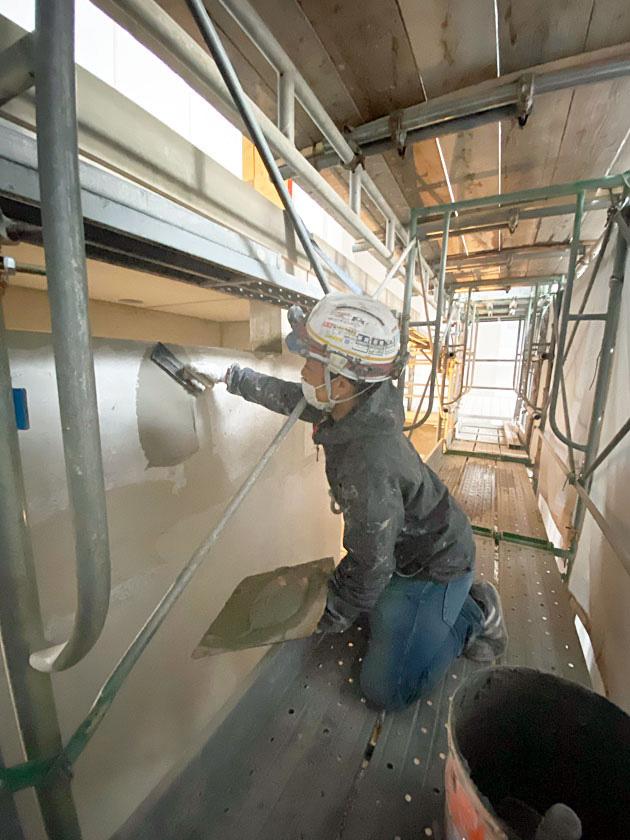 薄壁塗り作業
